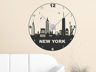 Wandtattoo Uhr New York