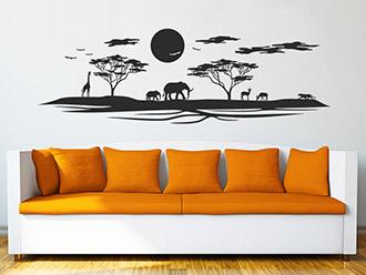 Wandtattoo Afrikanische Landschaft