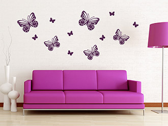 wandtattoo pusteblumen mit fliegenden samen wandtattoo de. Black Bedroom Furniture Sets. Home Design Ideas