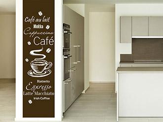 Wandtattoo Kaffee Banner