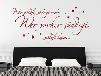 Wandtattoo Wer schläft...