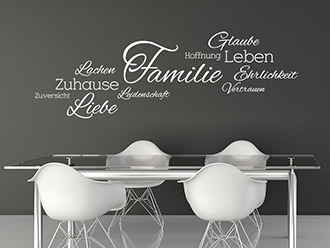 wandtattoo familie spruch von. Black Bedroom Furniture Sets. Home Design Ideas