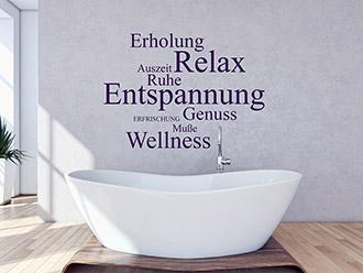 Wellness wandtattoos von wellness - Wandtattoo relax ...