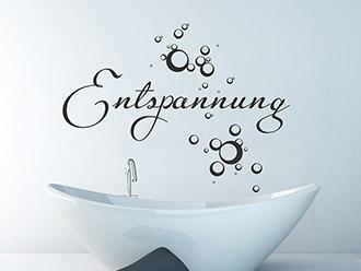 Wandtattoo Entspannung im Bad