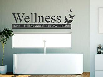 Wandtattoo Wellness Entspannung Auszeit