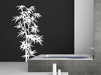 Superior Bambus Wandtattoo Strauch In Weiß