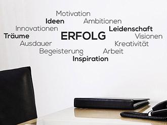Wandtattoo Worte für Büro und Arbeitsplatz | WANDTATTOO.DE
