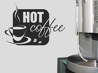 Wandtattoo Hot coffee
