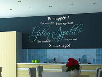 wandtattoos für die küche | wandgestaltung | wandtattoo.de - Wandtattoo Küche Guten Appetit