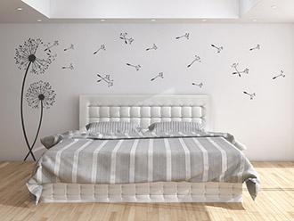 wandtattoo im schlafzimmer von wandtattoos. Black Bedroom Furniture Sets. Home Design Ideas