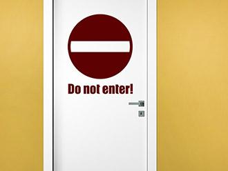Wandtattoo Do not enter