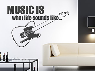 Wandtattoo Music is what life...