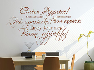Wandtattoo Guten Appetit international