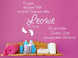 Babyzimmer Wandtattoos - süße Motive mit Babynamen | WANDTATTOO.DE