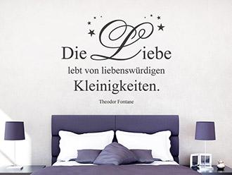 Wandtattoo Die Liebe lebt...