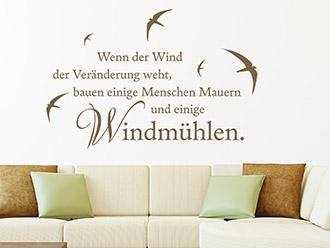 Wandtattoo Wenn der Wind...