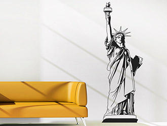 new york wandtattoos skyline freiheitsstatue etc. Black Bedroom Furniture Sets. Home Design Ideas