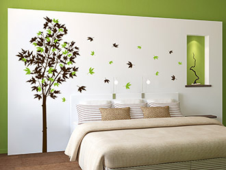 Wandtattoo Zweifarbiger Ahornbaum