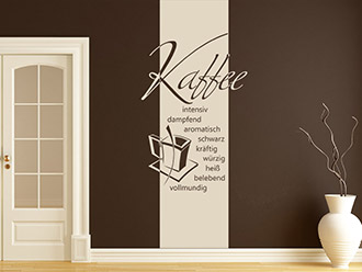 Wandtattoo Banner Guter Kaffee