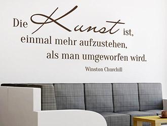 Wandtattoo Die Kunst...