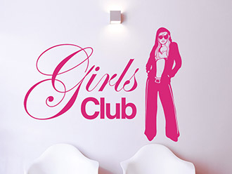 Wandtattoo Girls Club