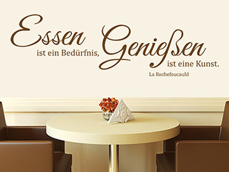 wandtattoo zitate ber essen und trinken wandtattoo de. Black Bedroom Furniture Sets. Home Design Ideas