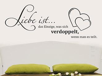 Wandtattoo Liebe ist das Einzige...