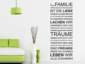 wandtattoo in diesem haus wird gelebt wandspruch von. Black Bedroom Furniture Sets. Home Design Ideas