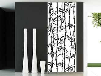 Wandtattoo Banner Bambus