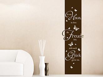 Wandtattoo Banner In ein Haus