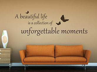 Wandtattoo A beautiful life