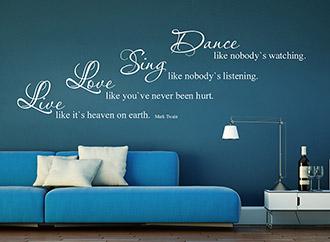 Wandtattoo Dance Sing Love Live