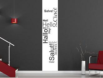 Wandtattoo Hallo Banner