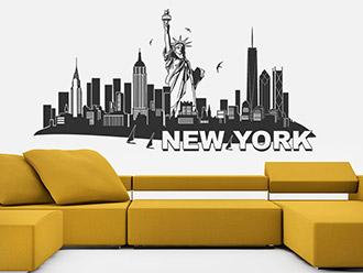 New York Skyline als Wandtattoo