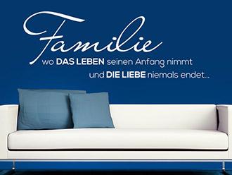 Wandtattoo Familie...