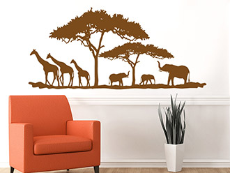 Wandtattoo afrika hitze in der savanne wandtattoo de - Wandfarbe savanne ...