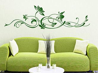 wandtattoo ranken mischung aus ornament und blume wandtattoo de. Black Bedroom Furniture Sets. Home Design Ideas