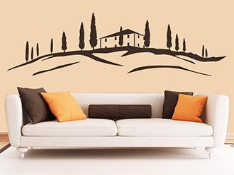 Wandtattoo Haus in der Toskana