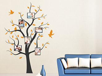 Wandtattoo ahnenbaum mit fotorahmen und spruch wandtattoo de - Wandtattoo bilderrahmen ...
