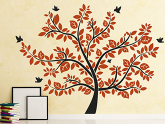Wandtattoo Lebensbaum