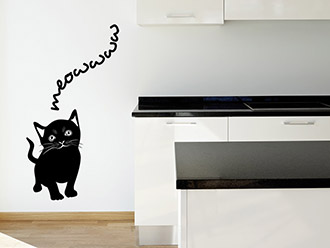 Wandtattoo Süße Katze