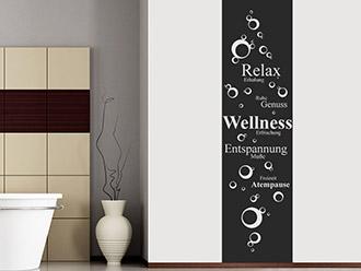 Wandtattoo Banner Wellness