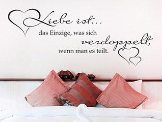 Wandtattoo Liebe ist das Einzige, was sich verdoppelt...