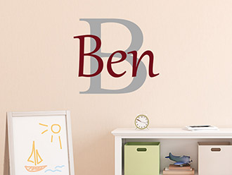 wunschname als wandtattoo im jungenzimmer wandtattoo de. Black Bedroom Furniture Sets. Home Design Ideas