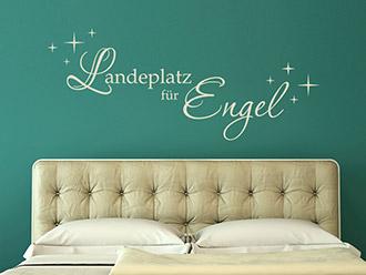 Wandtattoo Landeplatz für Engel
