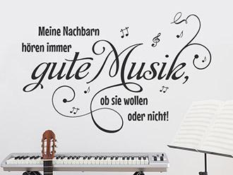 Wandtattoo Gute Musik
