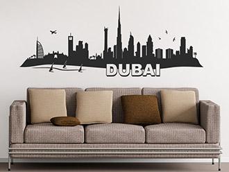 Skyline von Dubai als Wandtattoo