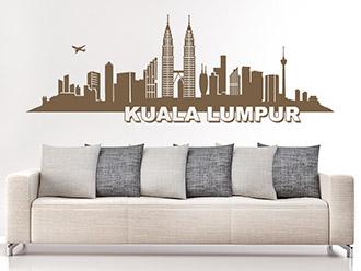 Kuala Lumpur Skyline als Wandtattoo