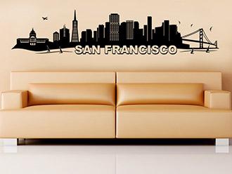 San Francisco Skyline als Wandtattoo