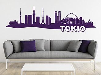 Tokio Skyline als Wandtattoo